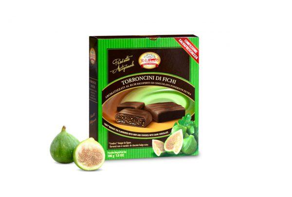 Torroncini di Fichi Aromatizzati al RUM Ricoperti di Cioccolato Extra Fondente