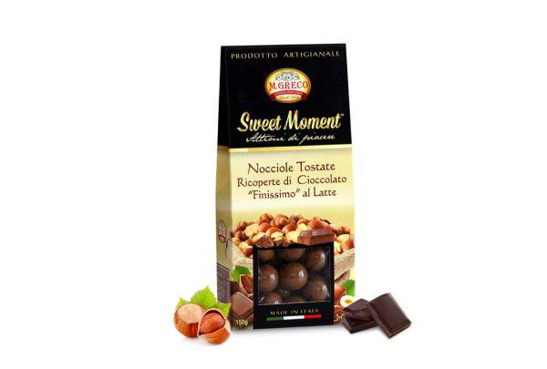 Nocciole Tostate Ricoperte di Cioccolato Finissimo al Latte