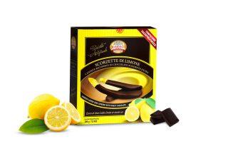 Scorzette di Limone Candite Ricoperte di Cioccolato Fondente Extra