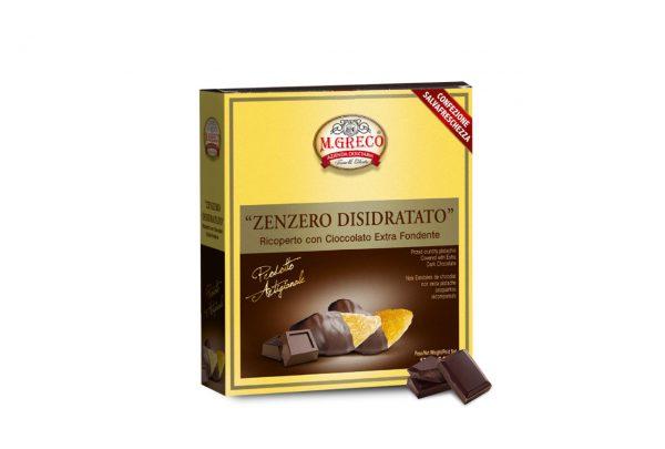 Zenzero Disidratato ricopertocon Cioccolato Extra Fondente